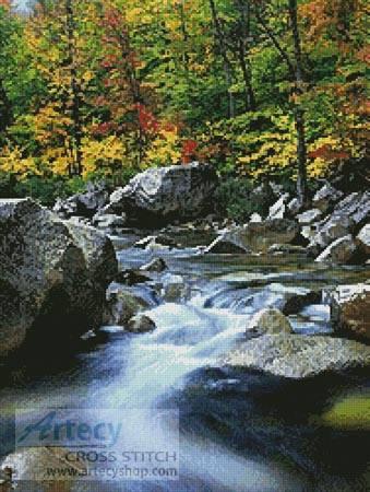 cross stitch pattern Autumn Stream