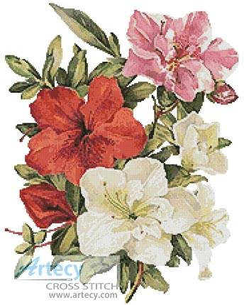 cross stitch pattern Azaleas