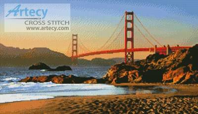 cross stitch pattern Baker Beach