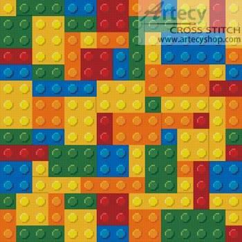 cross stitch pattern Blocks Cushion