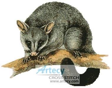 cross stitch pattern Brush Tail Possum