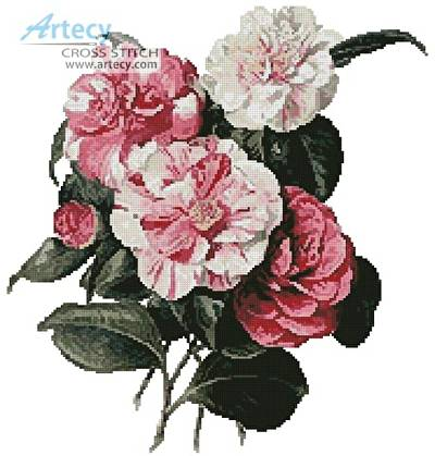 cross stitch pattern Camellias 4