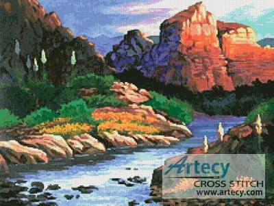 cross stitch pattern Canyon Painting