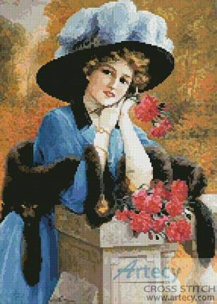 cross stitch pattern Carnations are for Love
