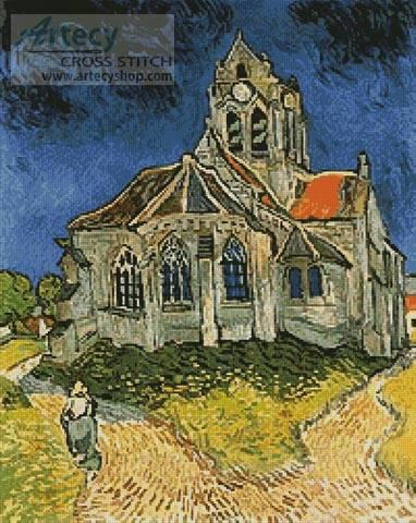 cross stitch pattern Church at Auvers