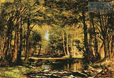 cross stitch pattern A Catskill Brook (Large)