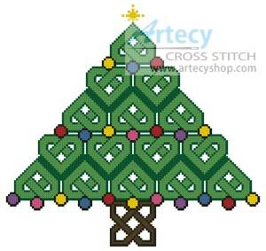 cross stitch pattern Celtic Christmas Tree