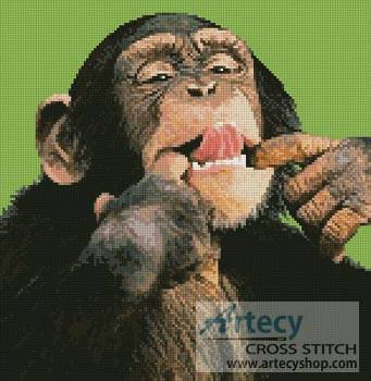 cross stitch pattern Cheeky Chimp