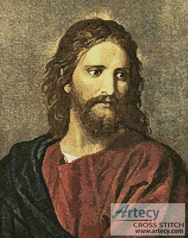 cross stitch pattern Christ at 33