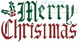 cross stitch pattern Christmas Greeting