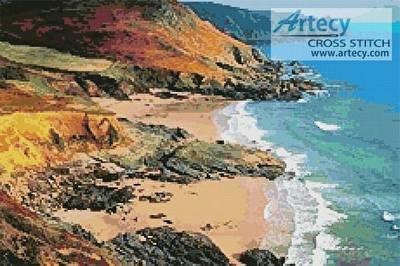 cross stitch pattern Colourful Coast