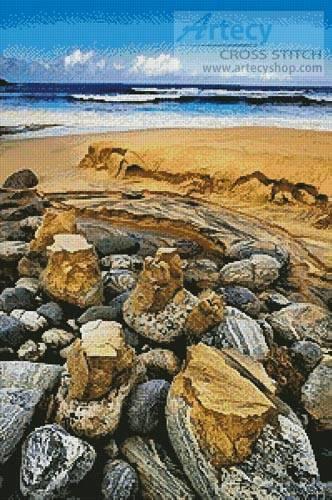 cross stitch pattern Coastal Landscape