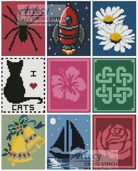 cross stitch pattern Cross Stitch Card Collection 1