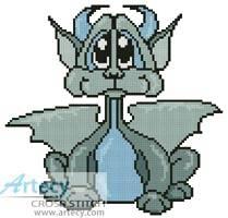 cross stitch pattern Cute Dragon 2