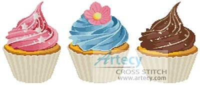 cross stitch pattern Cupcakes