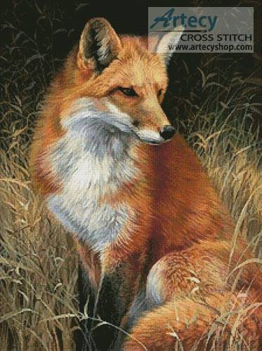 cross stitch pattern Red Fox Painting