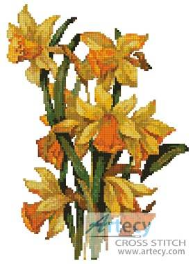 cross stitch pattern Daffodils