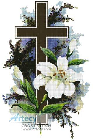 cross stitch pattern Easter Cross 2
