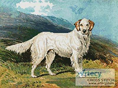 cross stitch pattern English Setter