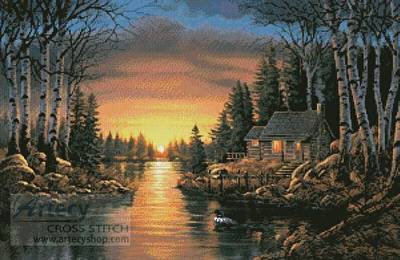 cross stitch pattern Evening Shadow