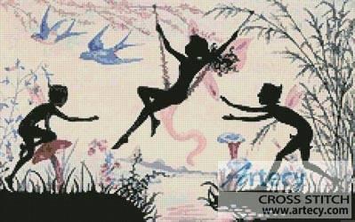cross stitch pattern Fairy Swing