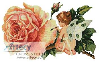cross stitch pattern Fairy Flower Painter