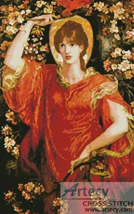 cross stitch pattern A Vision of Fiammetta