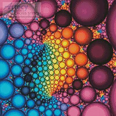 cross stitch pattern Fractal Bubbles