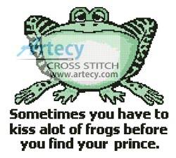 cross stitch pattern Frog Prince