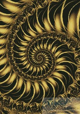 cross stitch pattern Fractal Spiral 2