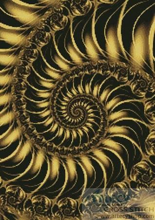 cross stitch pattern Fractal Spiral 2
