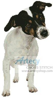 cross stitch pattern Fox Terrier Puppy