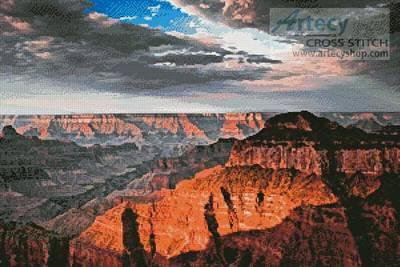 cross stitch pattern Grand Canyon Sunset