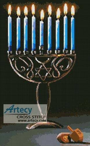 cross stitch pattern Hanukkah
