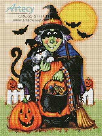cross stitch pattern Hocus Pocus Halloween