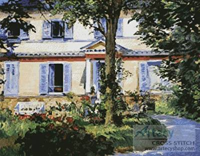 cross stitch pattern House at Rueil