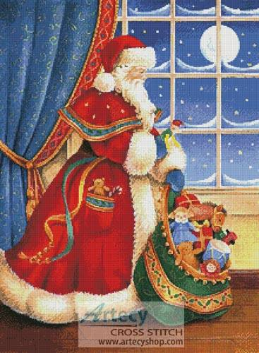 cross stitch pattern Christmas Delivery