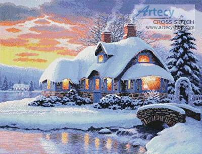 cross stitch pattern Winter Serenity