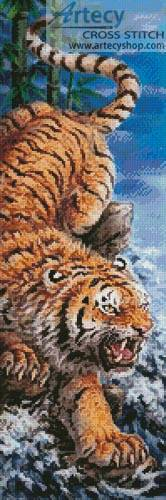 cross stitch pattern Golden Tiger
