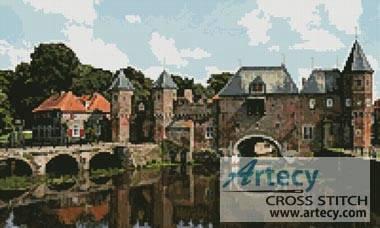 cross stitch pattern Koppelpoort - Amersfoot, Amsterdam