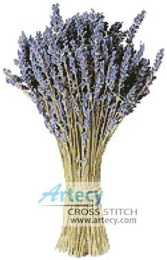 cross stitch pattern Lavender Bunch