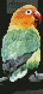 cross stitch pattern Lovebird Bookmark