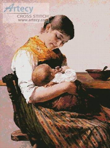 cross stitch pattern Mother and Child 2