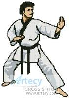cross stitch pattern Martial Arts Boy