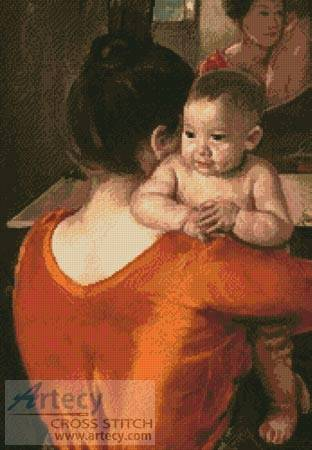 cross stitch pattern Mother and Child 4