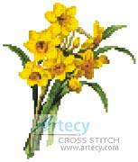 cross stitch pattern Mini Daffodils 2