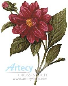 cross stitch pattern Mini Dahlia Double