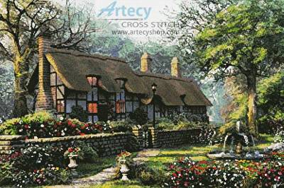 cross stitch pattern The Old Cottage
