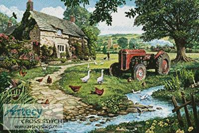 cross stitch pattern The Old Tractor