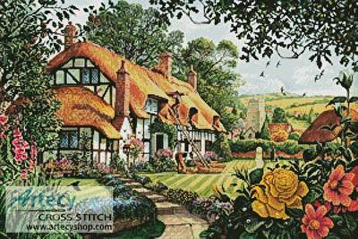 cross stitch pattern The Summer Thatchers